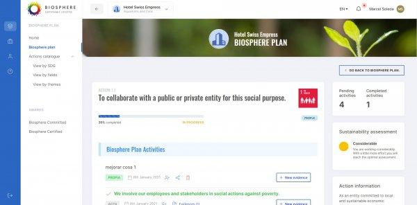 Gestiona las acciones de tu Plan Biosphere